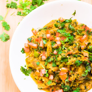 Baingan Bharta... Indian Spiced Smoked Eggplant Mash