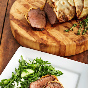 Beef Wellington with Potato Crust