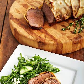 Beef Wellington with Potato Crust.