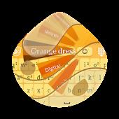 Orange dress GO Keyboard