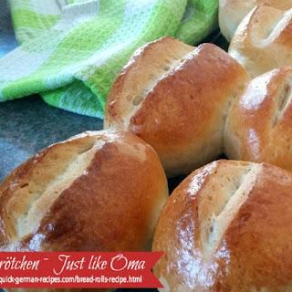 Oma's Brötchen ~ German Bread Rolls