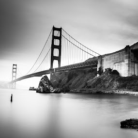 Golden Gate, CA, USA by Rechard Sniper - Black & White Landscapes