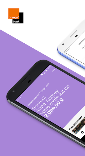 Orange Bank Android App Screenshot