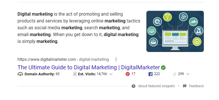 voice search SEO snippet for digital marketing