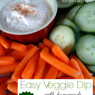 Easy Veggie Dip (With Homemade Seasoned Salt)
