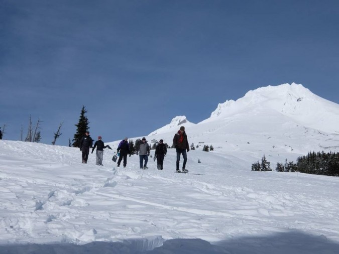 team-building on Mt. Hood in Oregon