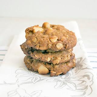 Macadamia, White Chocolate & Oat Cookies