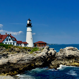 Portland Head Light in Maine by Joe Fazio - Buildings & Architecture Public & Historical (  )