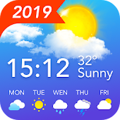 Weather Forecast - Live Weather & Radar & Clock Icon