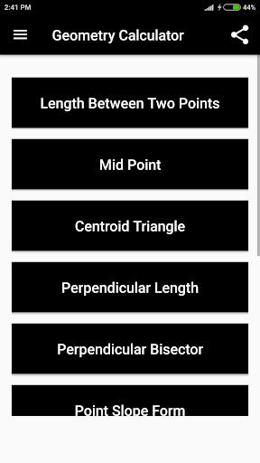Geometry Calculator 1.1 screenshots 2