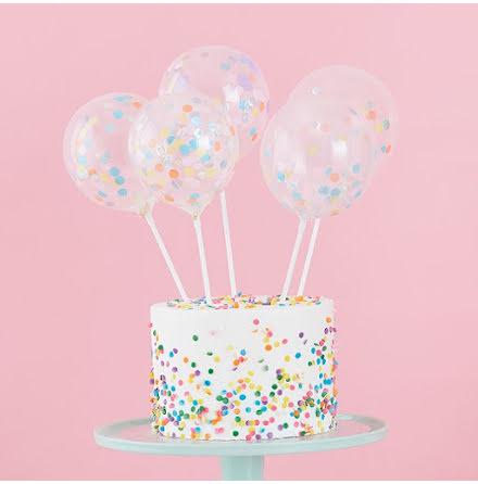 Tårtdekoration miniballonger - Pastel party