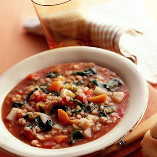 Crockpot Barley Vegetable Soup.