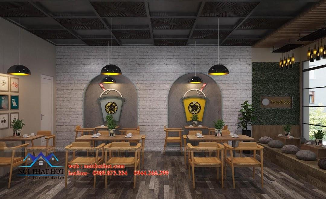 Thiết kế quán trà sữa phong cách
