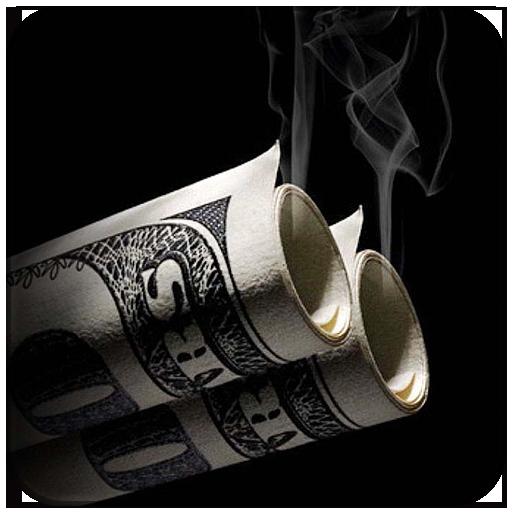 Money Dollars Black Burn