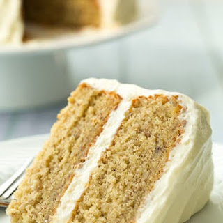 Banana Cake with Fluffy Cream Cheese Frosting Recipe