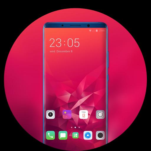 Theme for Oppo Realme 2 birthday red wallpaper icon