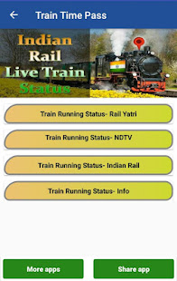 Indian Train Live Status, PNR Status : Time pass for PC