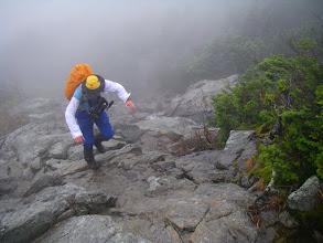 Photo: Steep terrain.