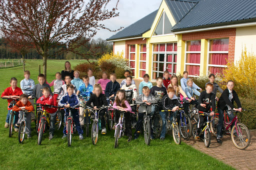 Groupe sortie scolaire vélo
