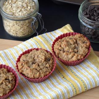 Vegan Apple Oat Protein Muffins.
