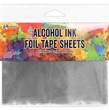 Tim Holtz Alcohol Ink Foil Tape Sheets 4.25X5.5 6/Pkg