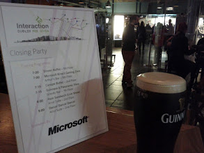 Photo: Closing party at the Guinness Storehouse. Seven floors of museum and bars.