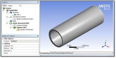 ANSYS - Импортированная в Workbench Mechanical конечноэлементная модель, которая ещё не готова к запуску расчета