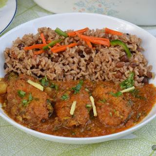 Cabbage Kofta Curry.