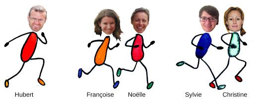 Equipe de coureurs solo au profit du Projet de L'Arche à Strasbourg Marathon EuroDistrict 2015