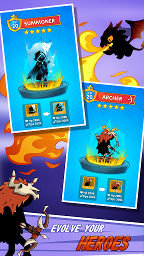 Stickdom Idle: Taptap Titan Clicker Heroes Screen Shot