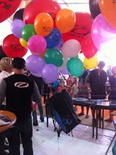Photo: The Ozone XXLite is so light a few balloons can lift it!