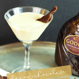 Chocolate Martini infused with Bacon