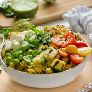 Grilled Vegetable Summer Succotash Pasta Salad Recipe