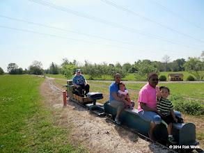 Photo: Conductor Mary Lou Pasley      HALS Public Run Day 2014-0419 RPW  10:39 AM