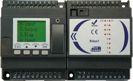 PLC expansionsmodul, 4 moduler med 8 in/4 ut, 230VAC