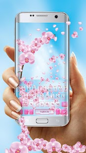Spring Orchid Flowers Keyboard Theme - náhled