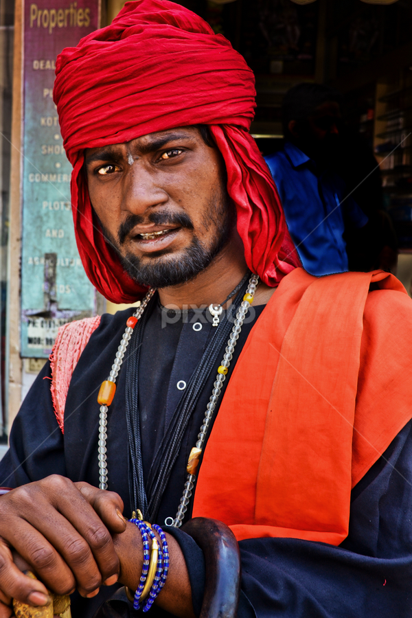 a fakir by Samir Ray - People Street & Candids ( faces, street, people, street&candid, photography )