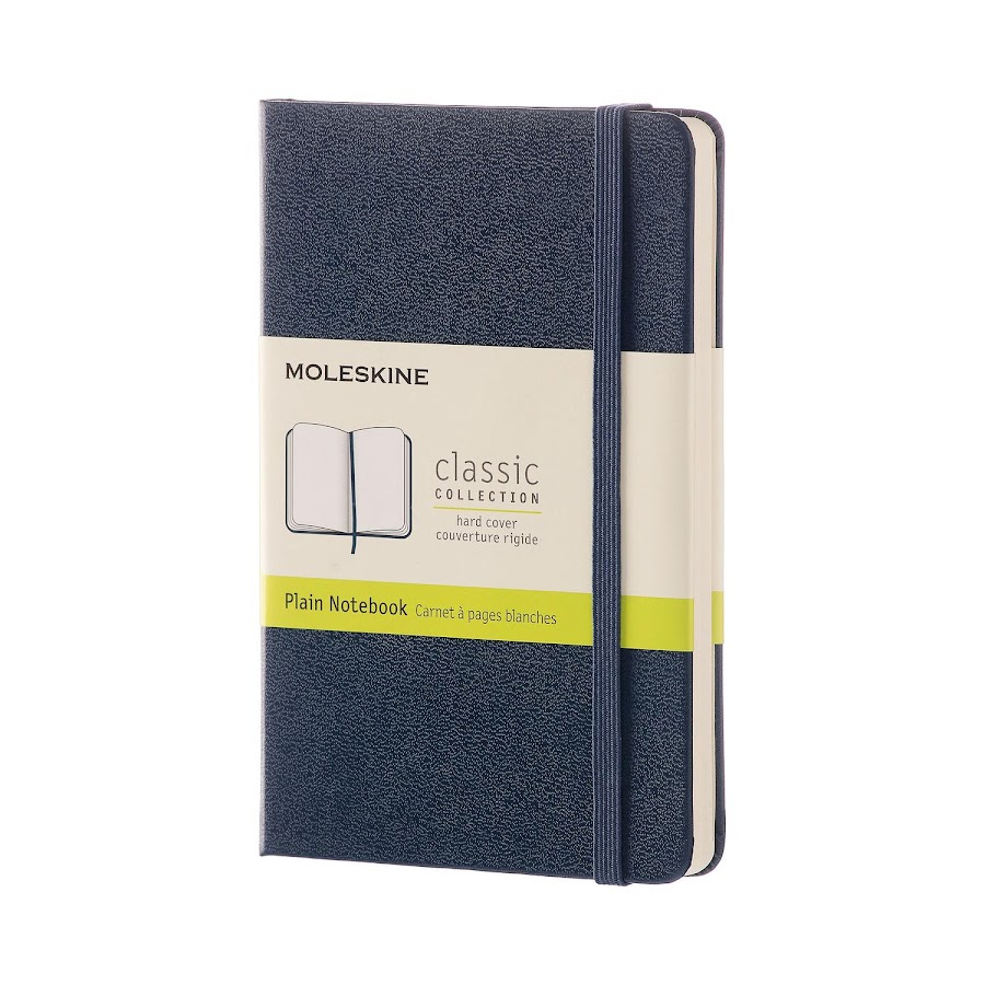 Classic Hard Cover Pocket Sapphire Blue