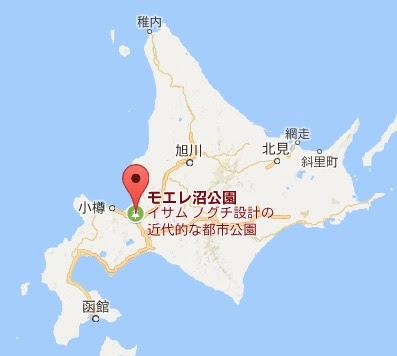 地図:モエレ沼公園