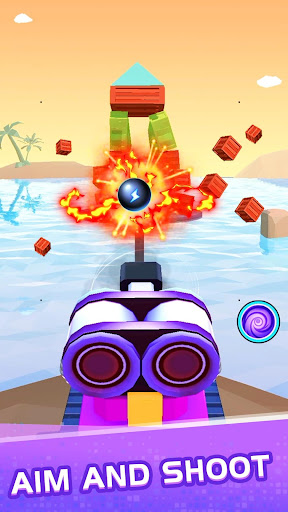 Color ball blast:merge tank and knock down blocks - screenshot