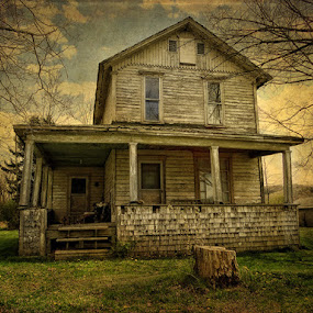 At one time by Vivian Gordon - Buildings & Architecture Public & Historical ( vigor, dilapidated, home, old, architecture, rural, country )