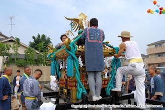 Photo: 【平成19年(2007) 本宮】 渡御に向けた飾り付け。