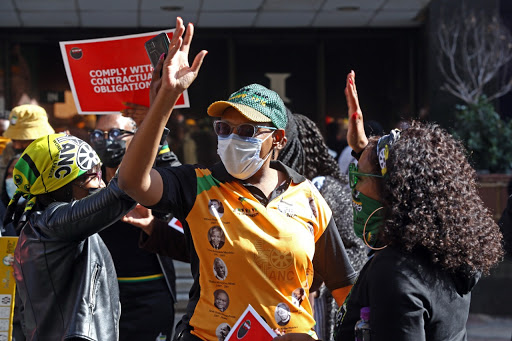 ANC members protest at Luthuli House over unpaid salaries and 'unfair' labour practices