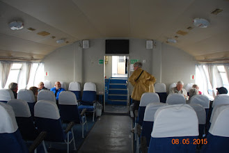 Photo: Vi kjører katamaran til Petershof