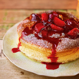 Jamie Oliver'S Cotton Cheesecake with Honey Plums Recipe