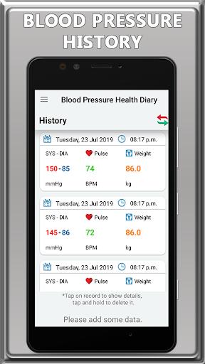Blood Pressure Check Diary: BP Info 1.0 screenshots 2