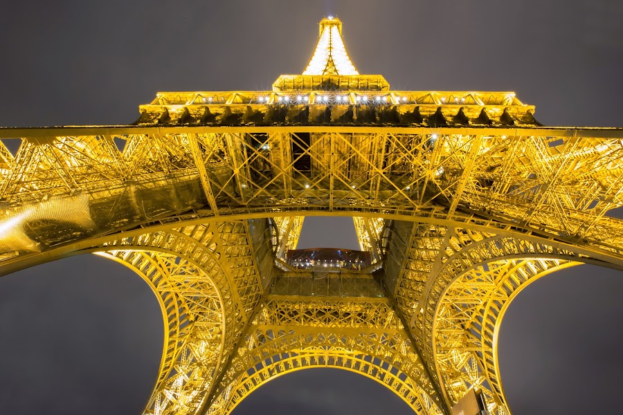 Eiffel Tower by Isa 'Gunners' - Buildings & Architecture Architectural Detail ( eiffel tower, night photography, architecture, cityscape, nightscape )