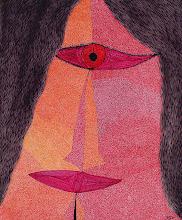 "Photo: Illusive Perceptions - Confrontation 22"" x 28"" 2000 - 2004 Pen & Ink on paper"