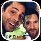 selfie con Messi icon