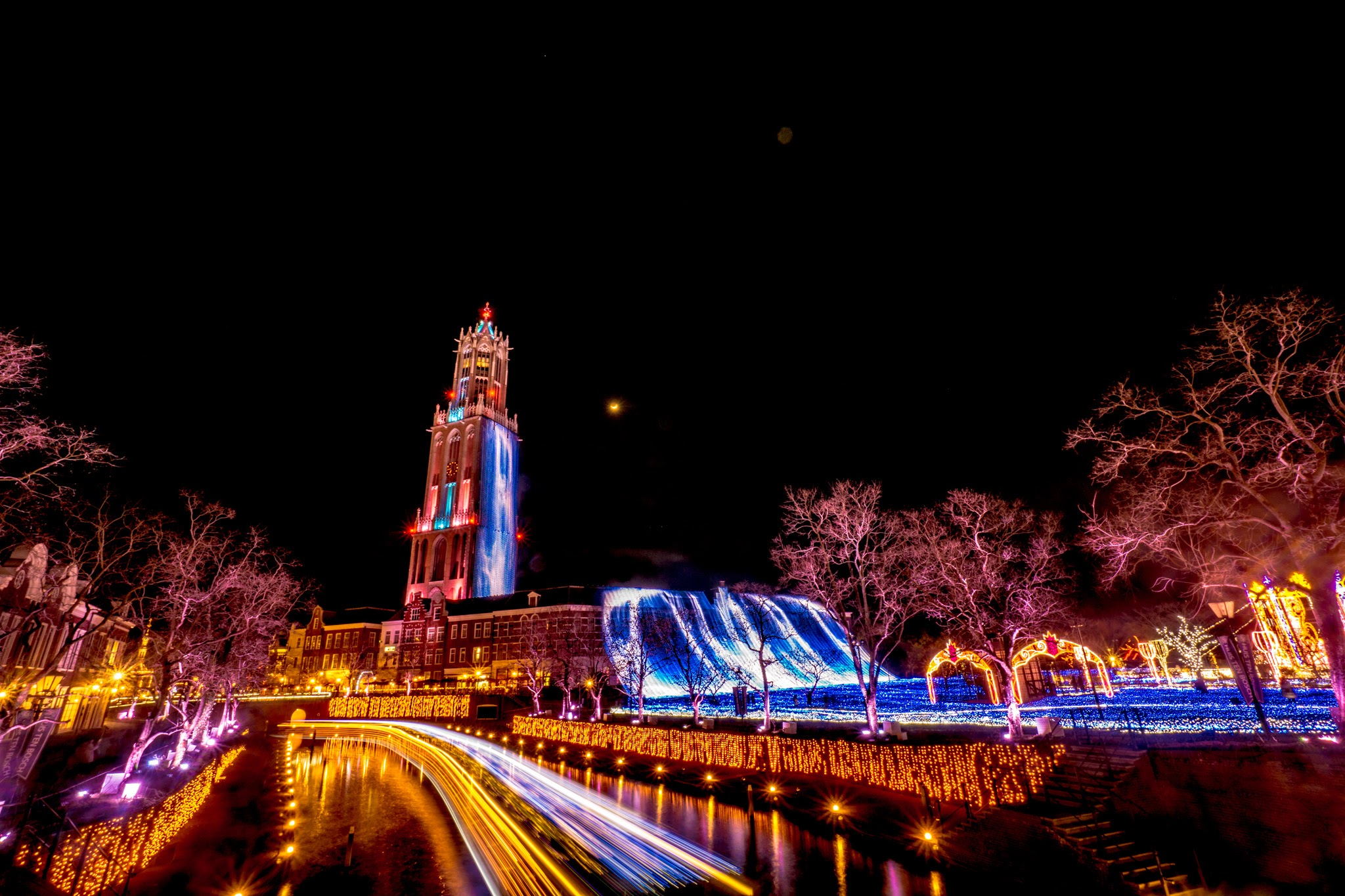 ハウステンボス イルミネーション 光の王国 スローシャッター1